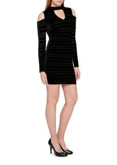 Guess Cold Shoulder Mini Dress