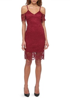 Guess Cold Shoulders Lace Dress