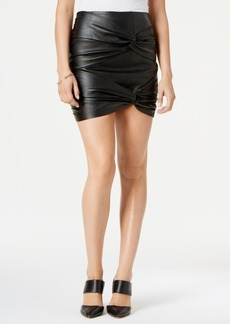 Guess Cole Knotted Faux-Leather Skirt