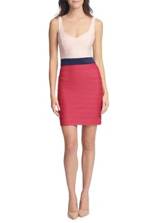 Guess Colorblock Bandage Bodycon Dress