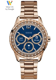 Guess Connect Women's Rose Gold-Tone Stainless Steel Bracelet Touchscreen Smart Watch 40mm