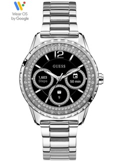 Guess Connect Women's Stainless Steel Bracelet Touchscreen Smart Watch 40mm