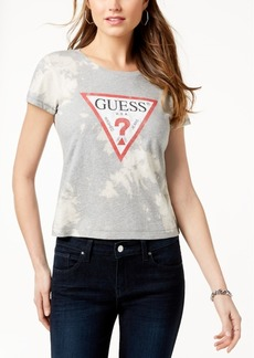 Guess Cotton Bleached Fitted T-Shirt