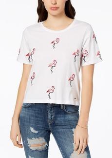 Guess Cotton Flamingo-Print T-Shirt