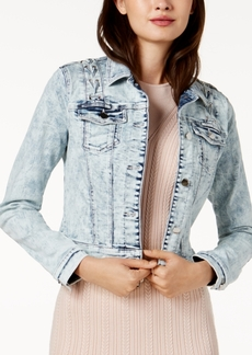 Guess Cotton Lace-Up Denim Jacket