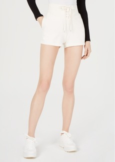 Guess Cotton Lace-Up Shorts