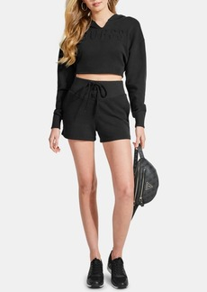 Guess Cotton Lace-Up Shorts