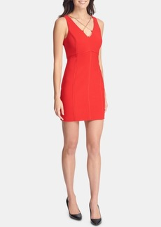 Guess Crisscross-Chain Bodycon Dress