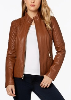 Guess Crisscross-Ties Faux-Leather Moto Jacket