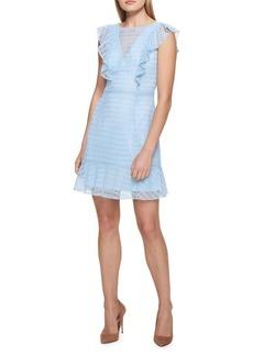Guess Crochet Ruffle A-Line Dress