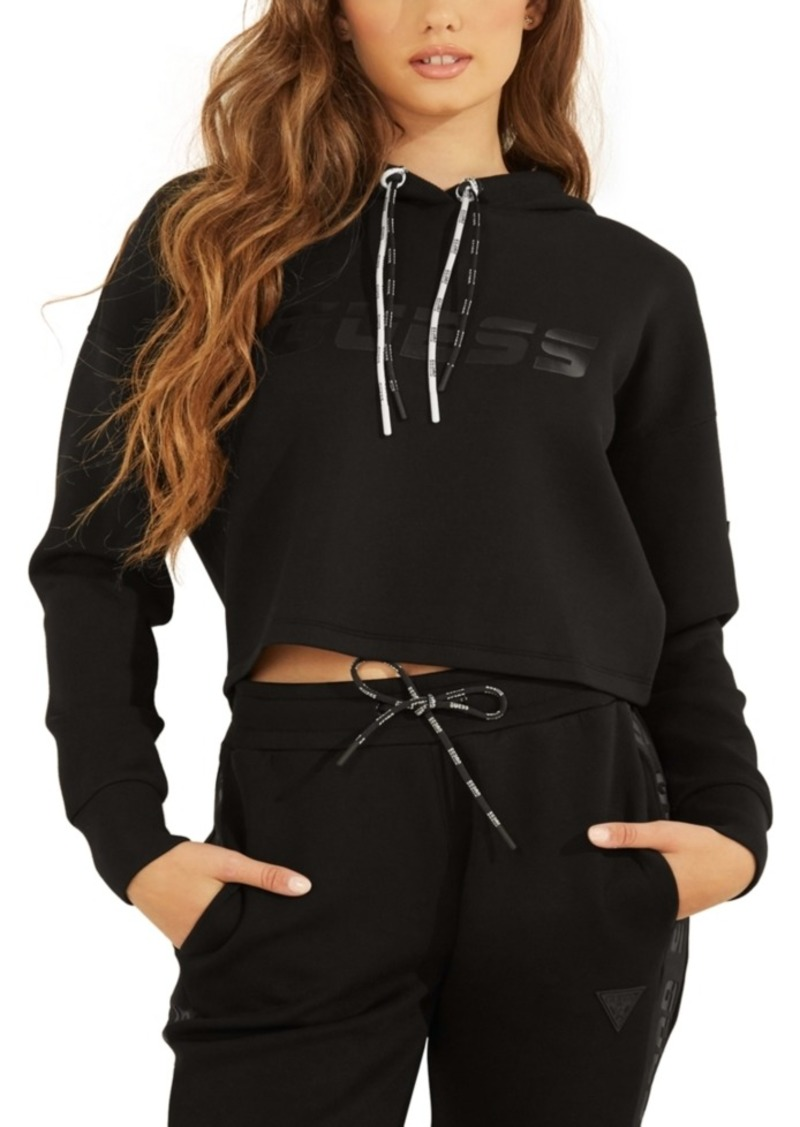 Guess Cropped Graphic Hoodie
