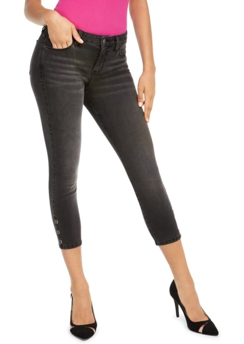 Guess Cropped Grommet-Cuff Jeans