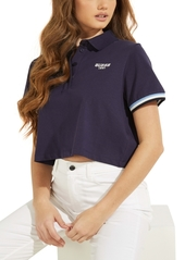 Guess Cropped Logo Polo Shirt