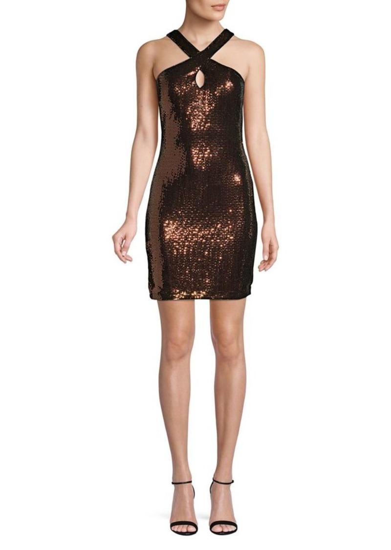 Guess Cross-Halter Mini Dress