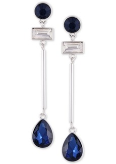 Guess Crystal Linear Drop Earrings