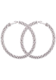 Guess Crystal Pave Hoop Earrings