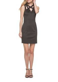 Guess Cutout Cross-Strapped Shift Dress