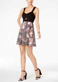 Guess Cutout Fit & Flare Dress
