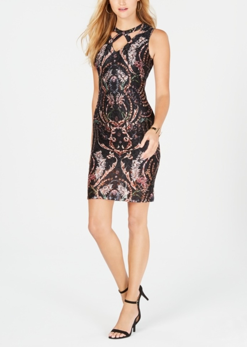 Guess Cutout Lace Bodycon Dress, Created for Macy's