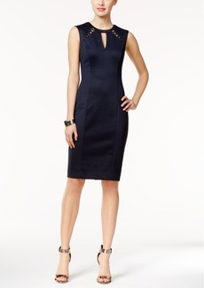 Guess Cutout Perforated Sheath Dress