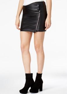 Guess Dakotah Faux-Leather Moto Skirt