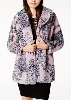 Guess Dana Printed Faux-Fur Coat