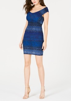 Guess Danna Ribbed Off-The-Shoulder Bodycon Dress