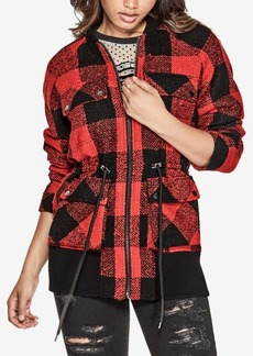 Guess Darian Plaid Bomber Jacket