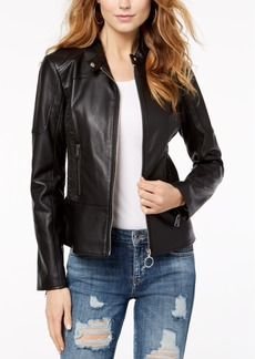 Guess Delaney Faux-Leather Biker Jacket