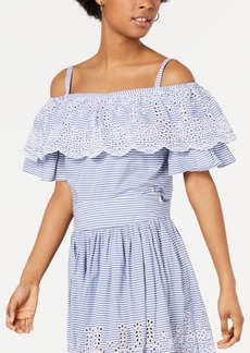 Guess Delia Cotton Eyelet Top