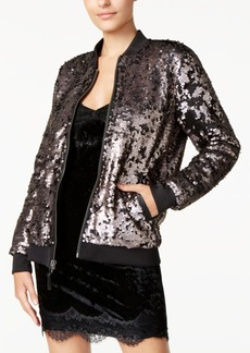 Guess Delilah Sequined Bomber Jacket