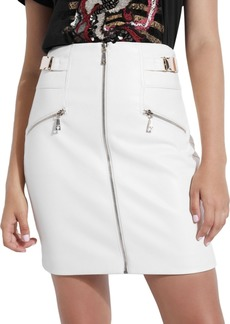 Guess Demetria Zippered Faux-Leather Skirt