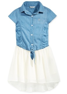 Guess Denim Chiffon High-Low Dress, Big Girls