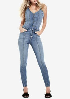Guess Denim Overall Jumpsuit