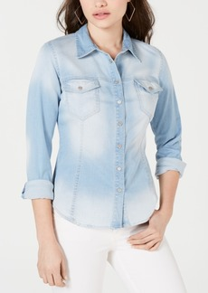 Guess Denim Snap-Closure Shirt