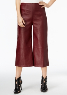 Guess Denise High-Rise Faux-Leather Culottes