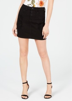 Guess Destroy Bodycon Denim Skirt