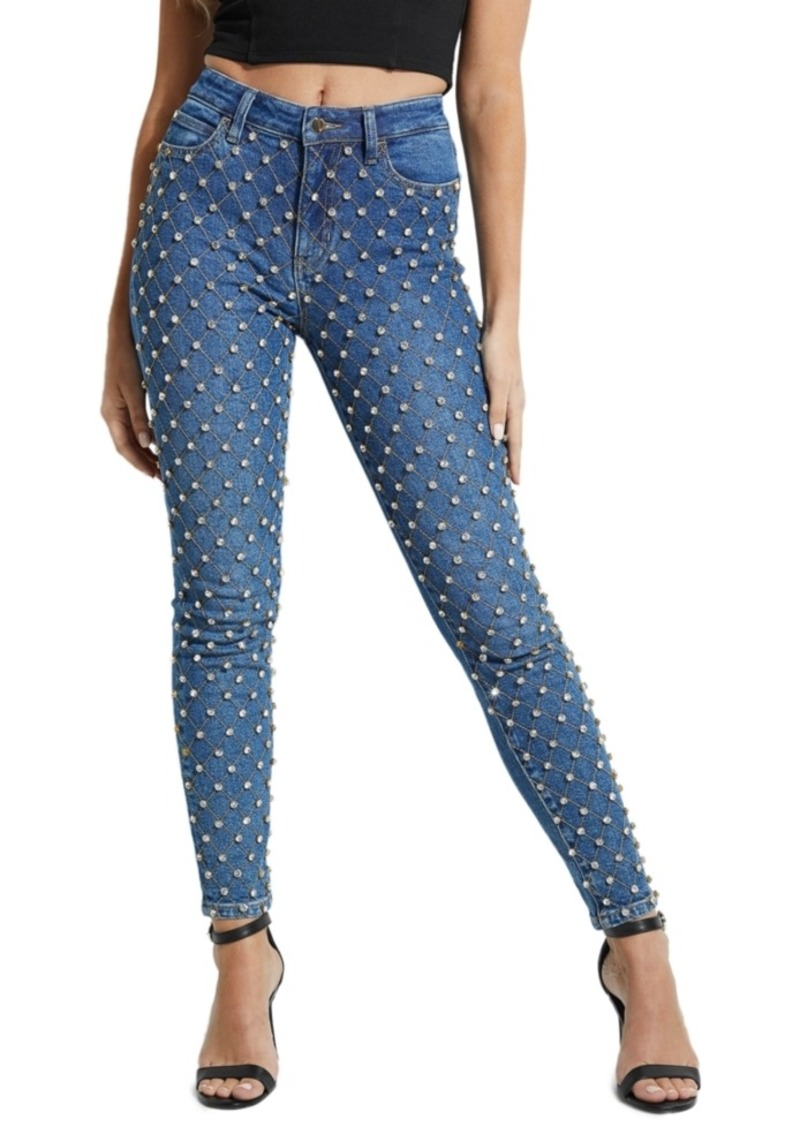 Guess Diamante Embellished 1981 Skinny Jeans