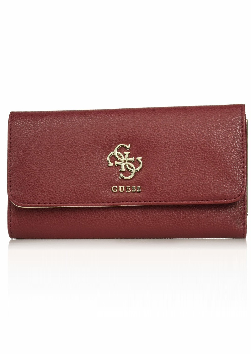 GUESS Digital Multi Clutch Wallet burgundy