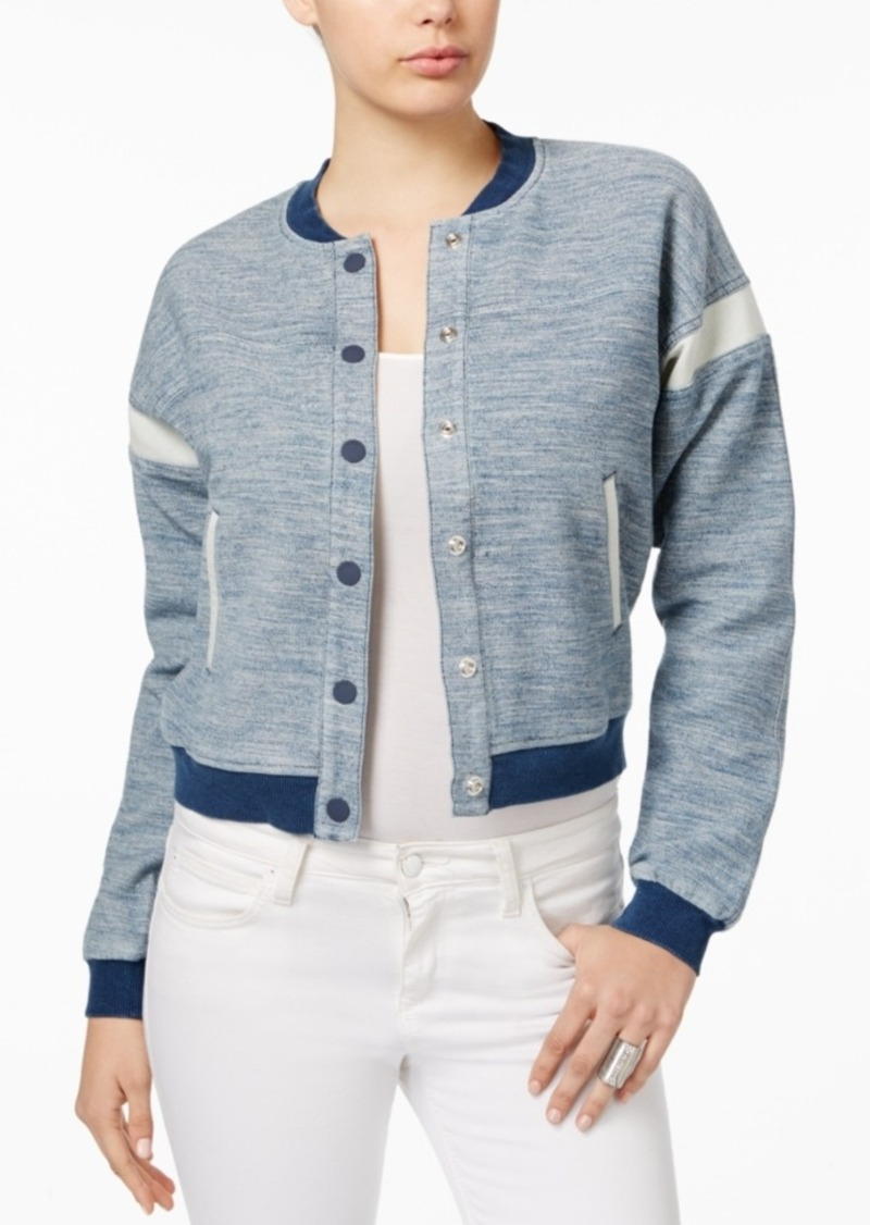 Guess Dobby Colorblocked Bomber Jacket