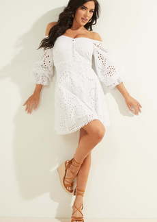 GUESS Dollie Off the Shoulder Long Sleeve Minidress