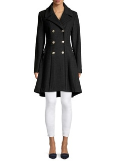 Guess Double-Breasted High-Low Coat