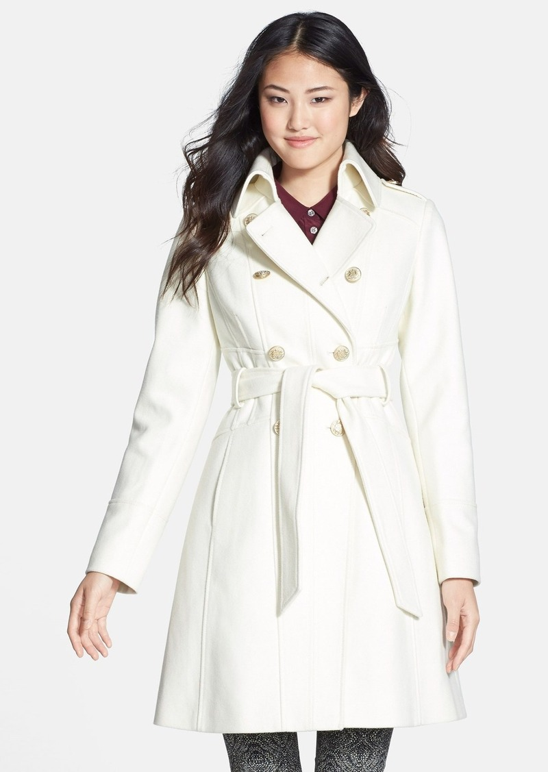 Guess Guess Double Breasted Wool Blend Trench Coat Online