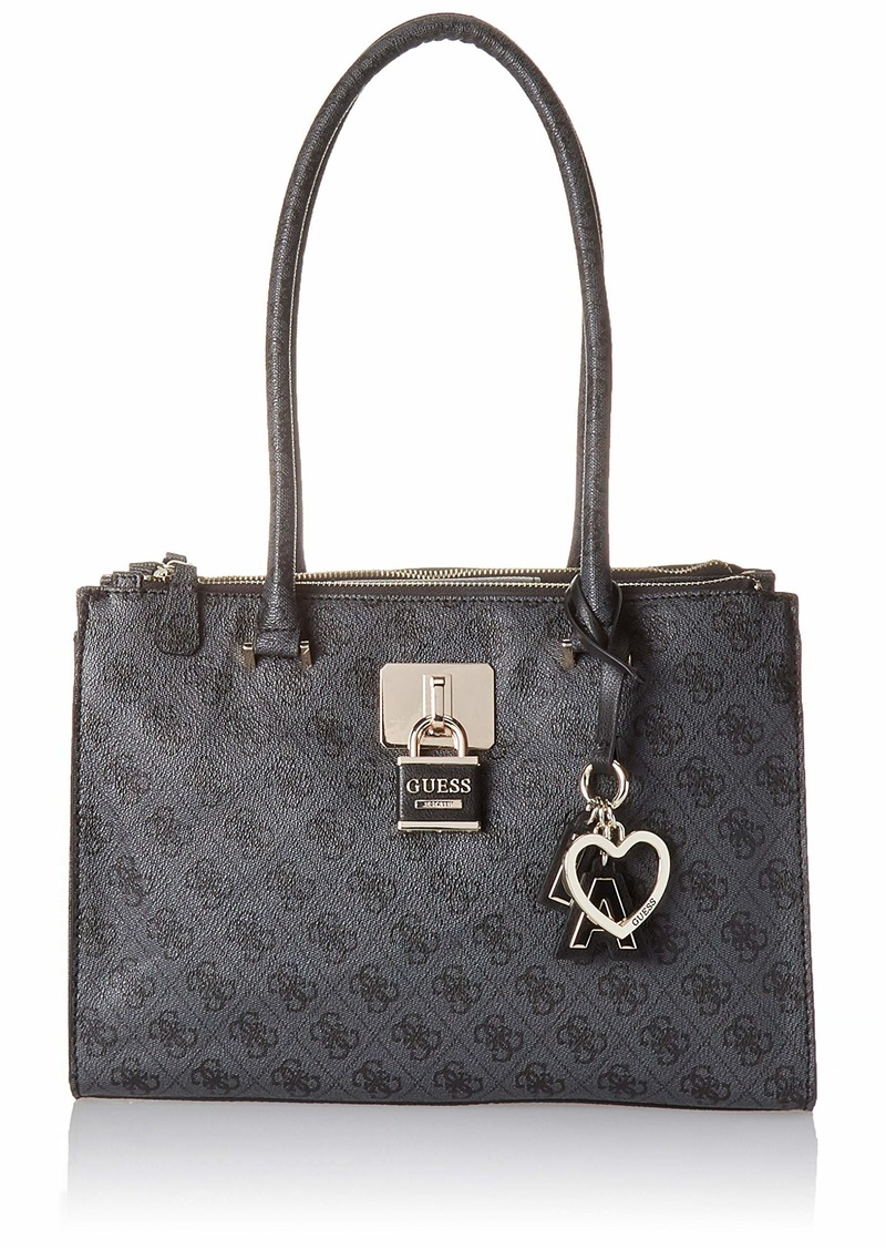 GUESS Downtown Cool Status Satchel coal
