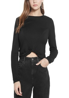 Guess Eco Vamp Twist-Hem Top