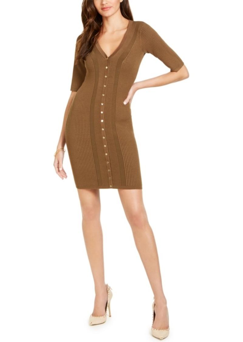 Guess Seneca Snap Front Ribbed Dress