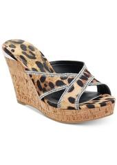 Guess Eleonora Platform Wedge Slide Sandals Women's Shoes