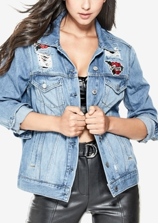 Guess Ellie Cotton Embroidered Denim Jacket