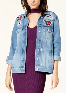 Guess Ellie Cotton Embroidered Denim Jacket