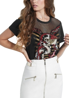 Guess Embellished Dragon Ez T-Shirt